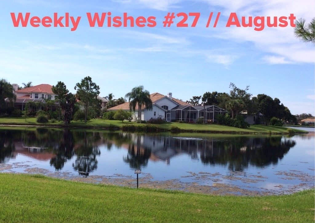 Weekly Wishes #27 // August Goals