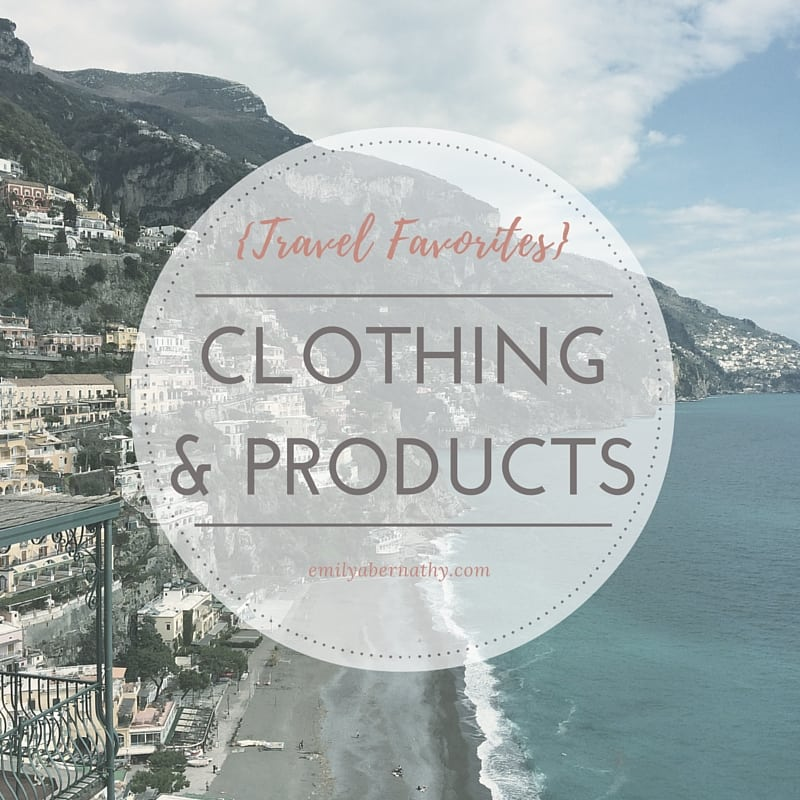 Travel Favorites_Clothing & Products